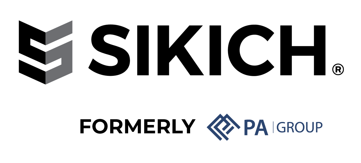Sikich and PA Group logos together